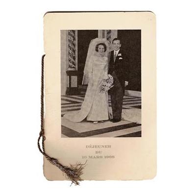 Huwelijkslunch Beatrix en Claus