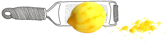 microplane rasp met citroen