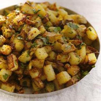 Aardappeltjes met koriander