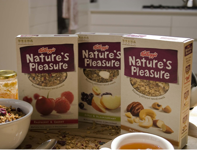 Nature's Pleasure muesli van Kellogg's