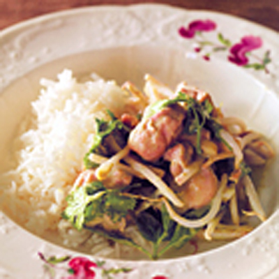 Groene Thaise kipcurry