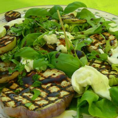 Salade met aubergine