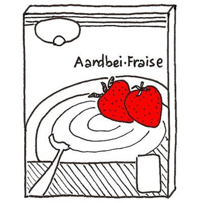 Aardbeienpudding zonder pakje