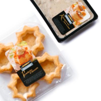 Kerstmenu voorgerecht: Pasteitje met kalfsragout