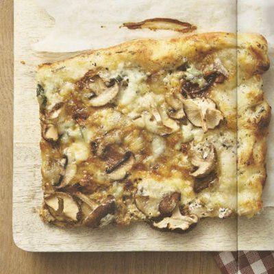 Witte pizza (vega)