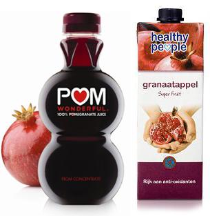 Granaatappelsap: POM wonderful vs Healthy People