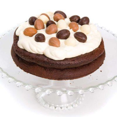 Chocoladetaart met paaseitjes
