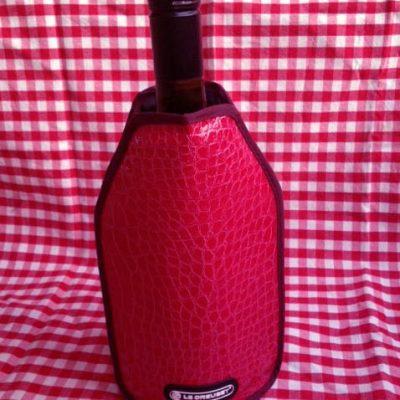 Rode croco wijnkoeler