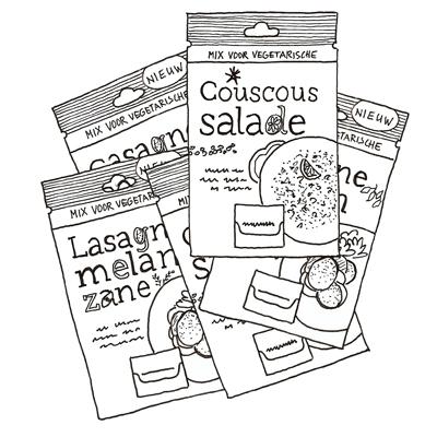 Vegetarische couscoussalade