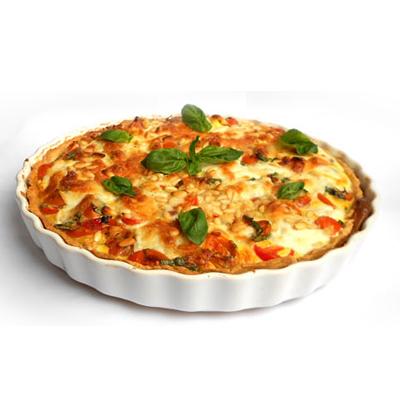 Quiche met tomaat en mozzarella