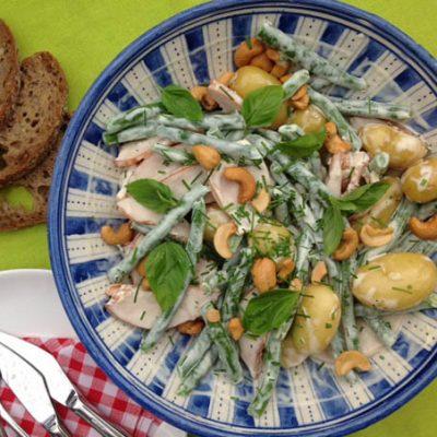 Koken op de camping: salade met krieltjes