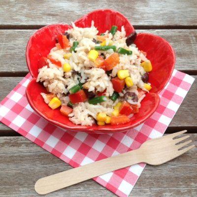 Koken op de camping: rijstsalade