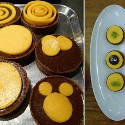 Chocoladetaartjes met mango
