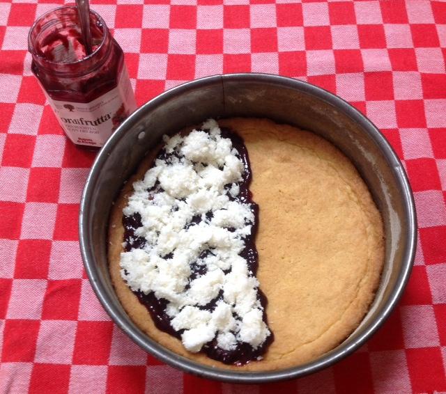 bosbessen kokos taart