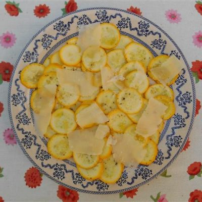Gele courgettes