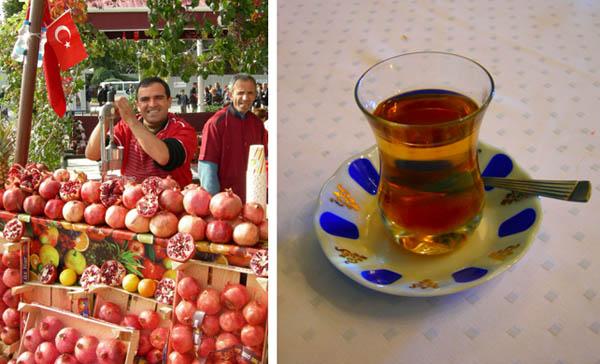turkije granaatappelsap en thee