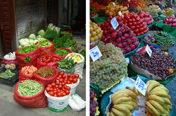 Turkije groente fruit