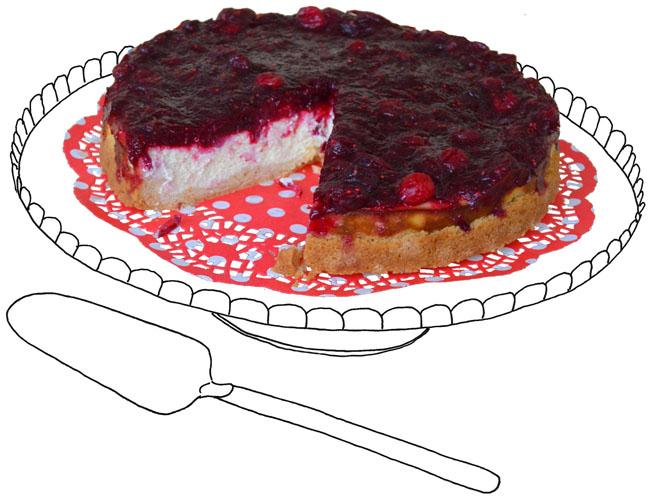 Cranberry-cheesecake