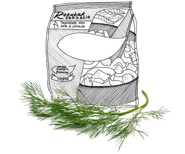 roerbaksensatie zalm spinazie
