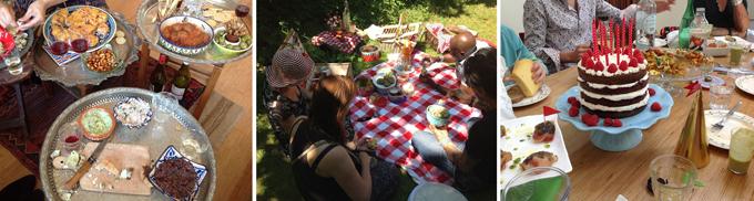 Uiteraard was al het eten tijdens de fotoshoots echt, dus het werd na afloop ook gewoon opgepeuzeld.