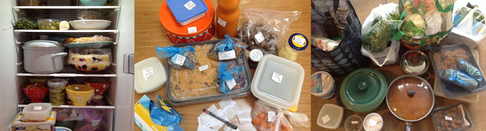 Een goede voorbereiding, veel doosjes en stickertjes, plus een fikse koelkast, en je krijgt die 125 gerechten wel op de foto.