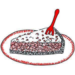 appel cranberry taart