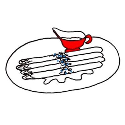 Asperges met blauwekaas-boter