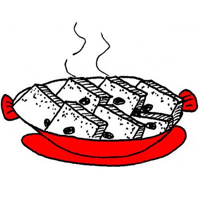 Broodschoteltje met boerenjongens