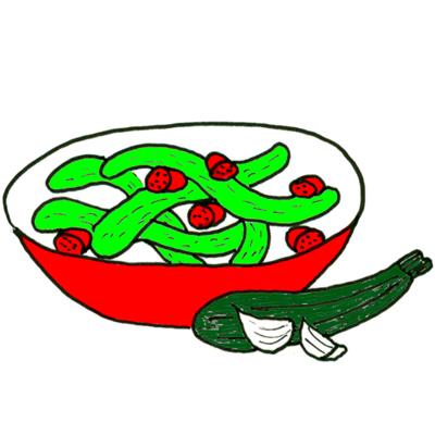 gemarineerde courgette salade