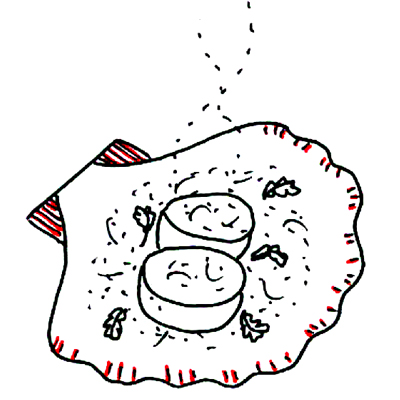 In de schelp gegratineerde coquilles
