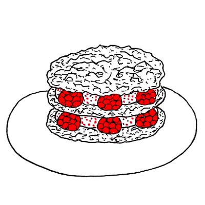 Kletskoptaartjes met frambozen