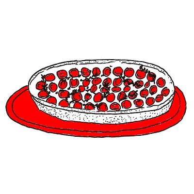 Tomatentaart met boursin en tijm