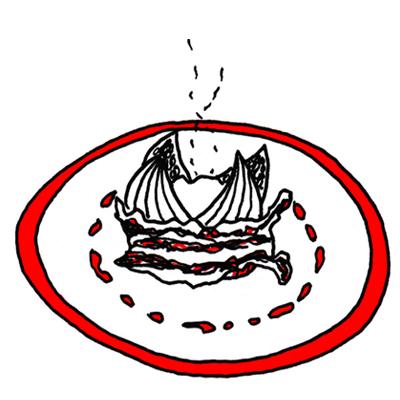 Vijgen uit de oven met rauwe ham en mozzarella