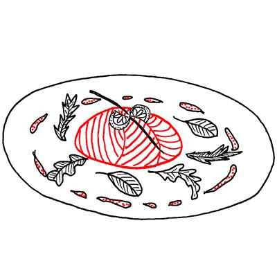 Zalmbuideltjes met garnalen
