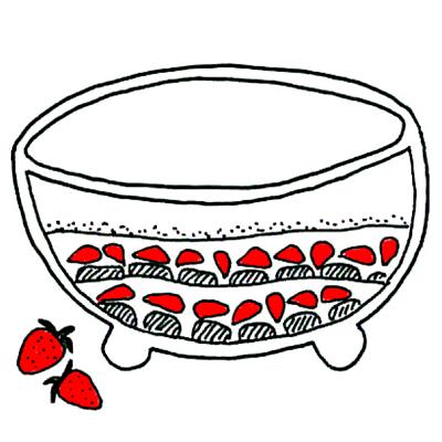 Zomertiramisu met aardbeien