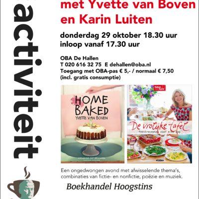 Ontmoet Yvette & Karin op 29 oktober