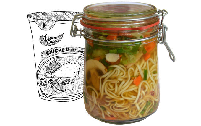 noedelsoepje in a jar
