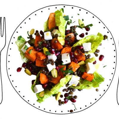 Salade van Puy-linzen