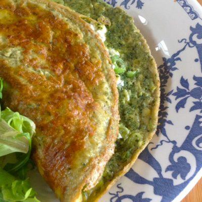Kliekjesrecept: groene omelet