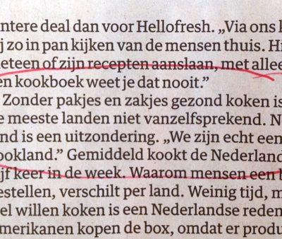"""Nederland """"echt een kookland"""" volgens HelloFresh"""