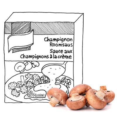 Champignonsaus zonder pakje