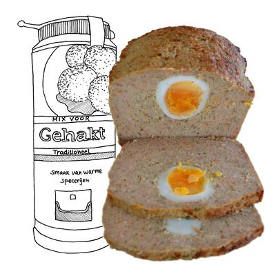 Gehaktbrood voor Pasen