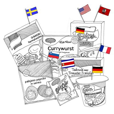 Buitenlandse pakjes & zakjes: Currywurst