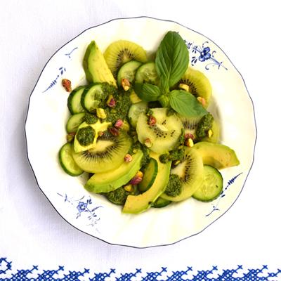 Kiwisalade met avocado