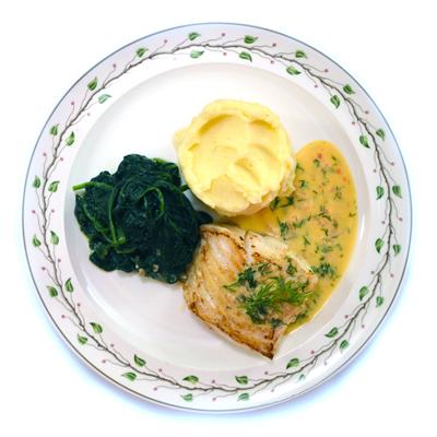Kabeljauw met botersaus