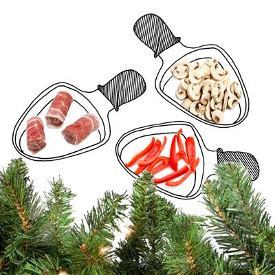 Gourmetten met kerst