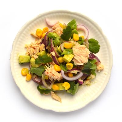 Ceviche met tonijn uit blik