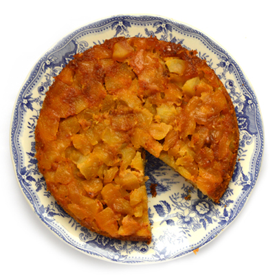 Omgekeerde appelcake