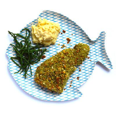 Vis met kruimelkorst