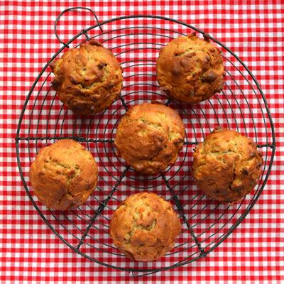 Appel-walnootmuffins